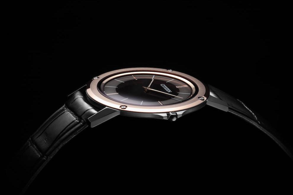 Citizwn Eco-Drive One, самые тонкие в мире часы с солнечной батареей