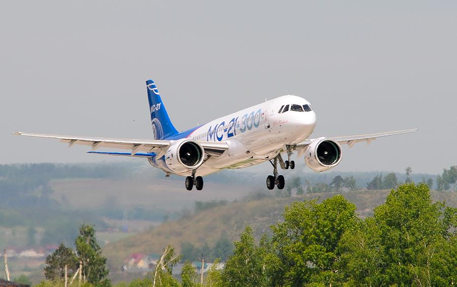 Первый полет пассажирского самолета МС-21-300.