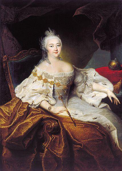 Грот, Георг Христофор. Портрет Императрицы Елизаветы Петровны (1709-1762)