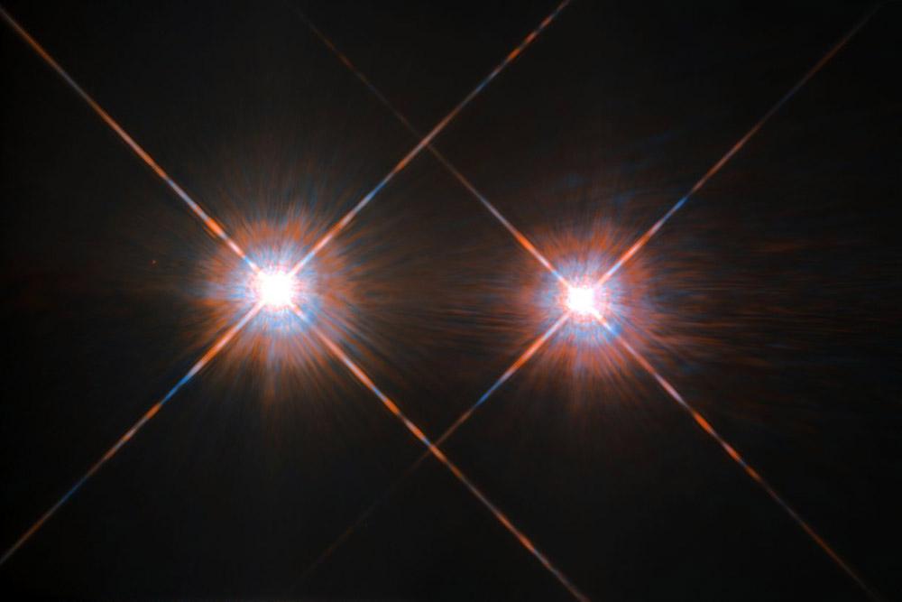 Альфа Центавра на сверхчеткой фотографии телескопа «Хаббл»