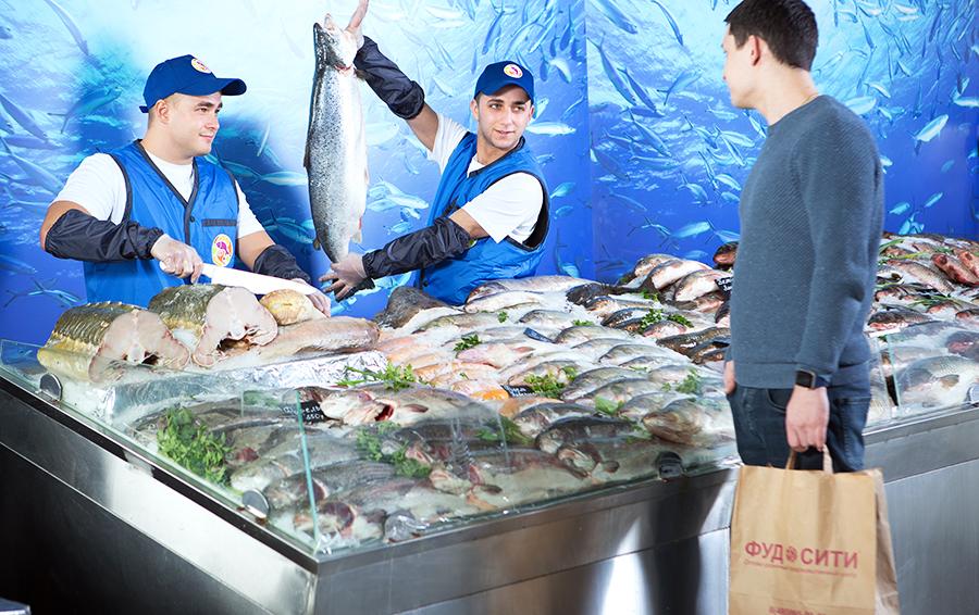 Рыбный павильон Фуд Сити