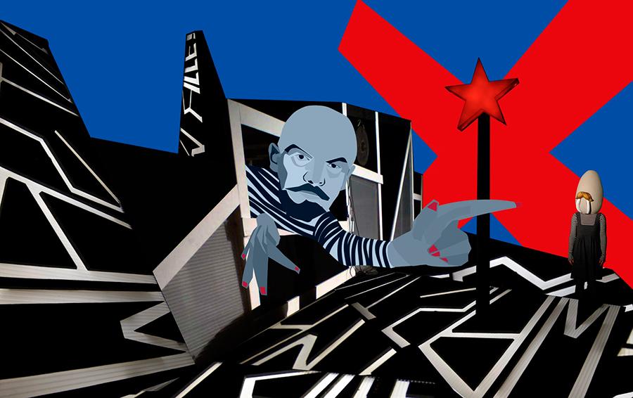 В Питере, на фестивале: Ленин превращается в Леннона, Ленин дружит с Николаем II
