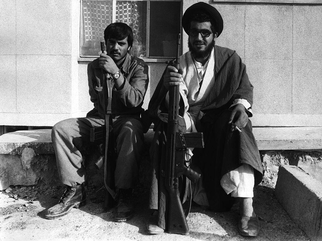 Иранская революционная гвардия во время военных действий. Саре Поул Захаб, Иран (1980 г.)