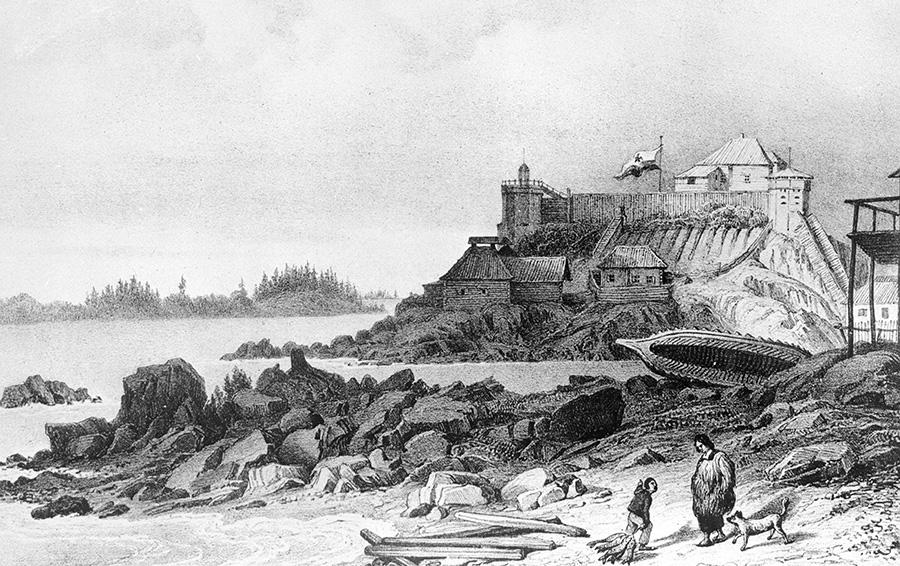 Штаб «Российско-американской компании» в Ситке, Аляска 1827