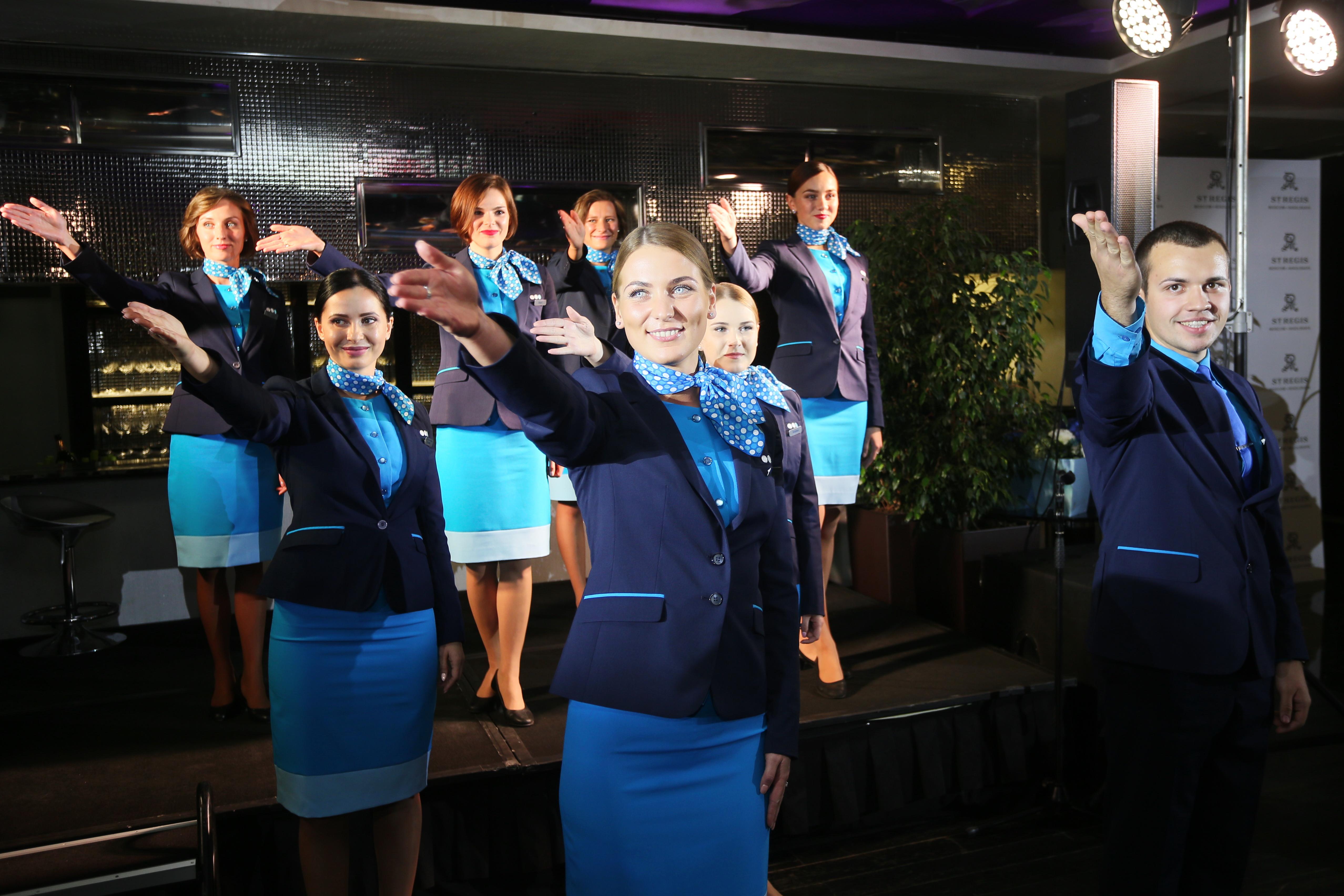 Восемь бортпроводников теперь будут представлять российскую бюджетную авиакомпанию на всех официальных мероприятиях в течение года
