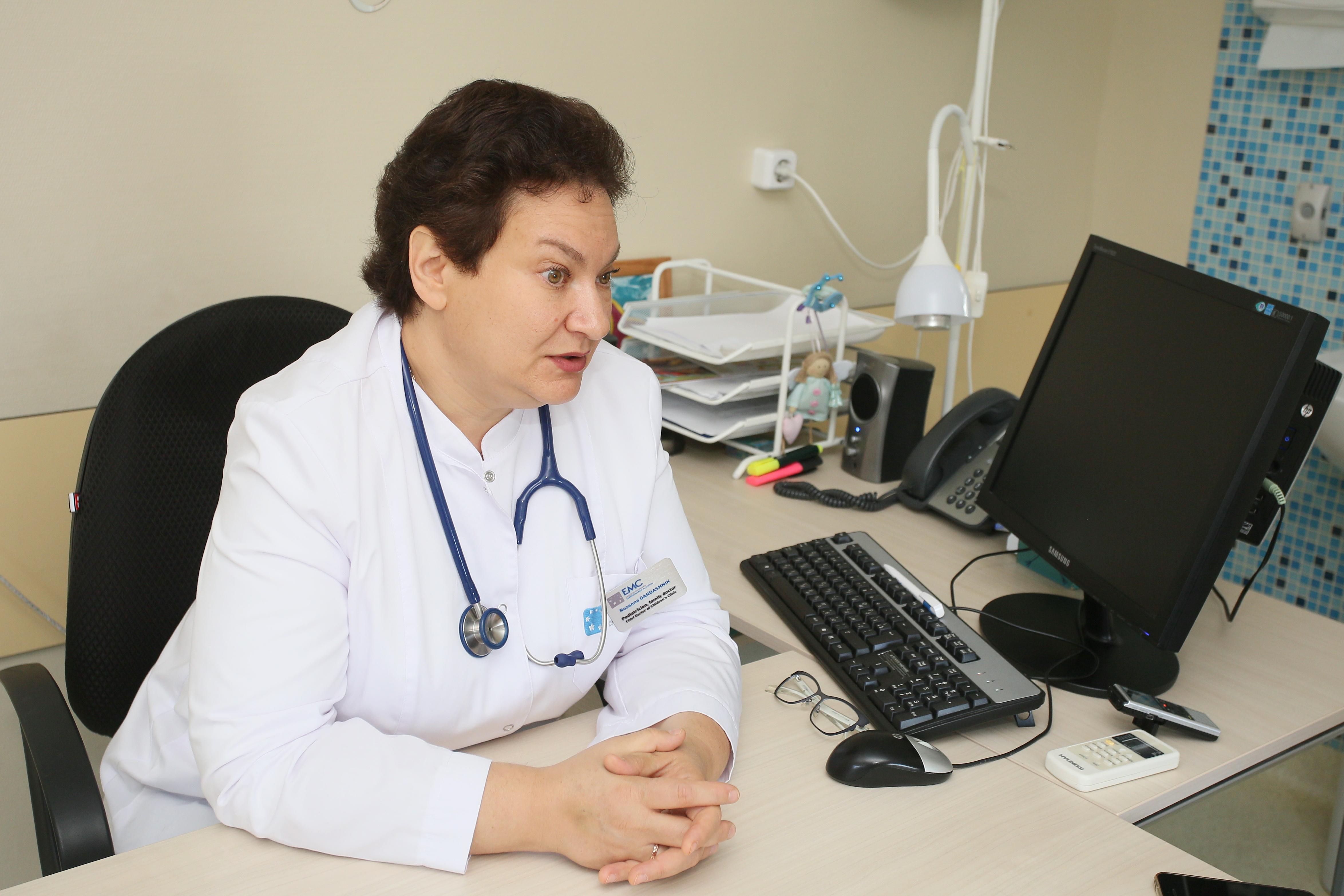Розанна Гардашник, Главный врач Детской клиники Европейского медицинского центра (ЕМС)