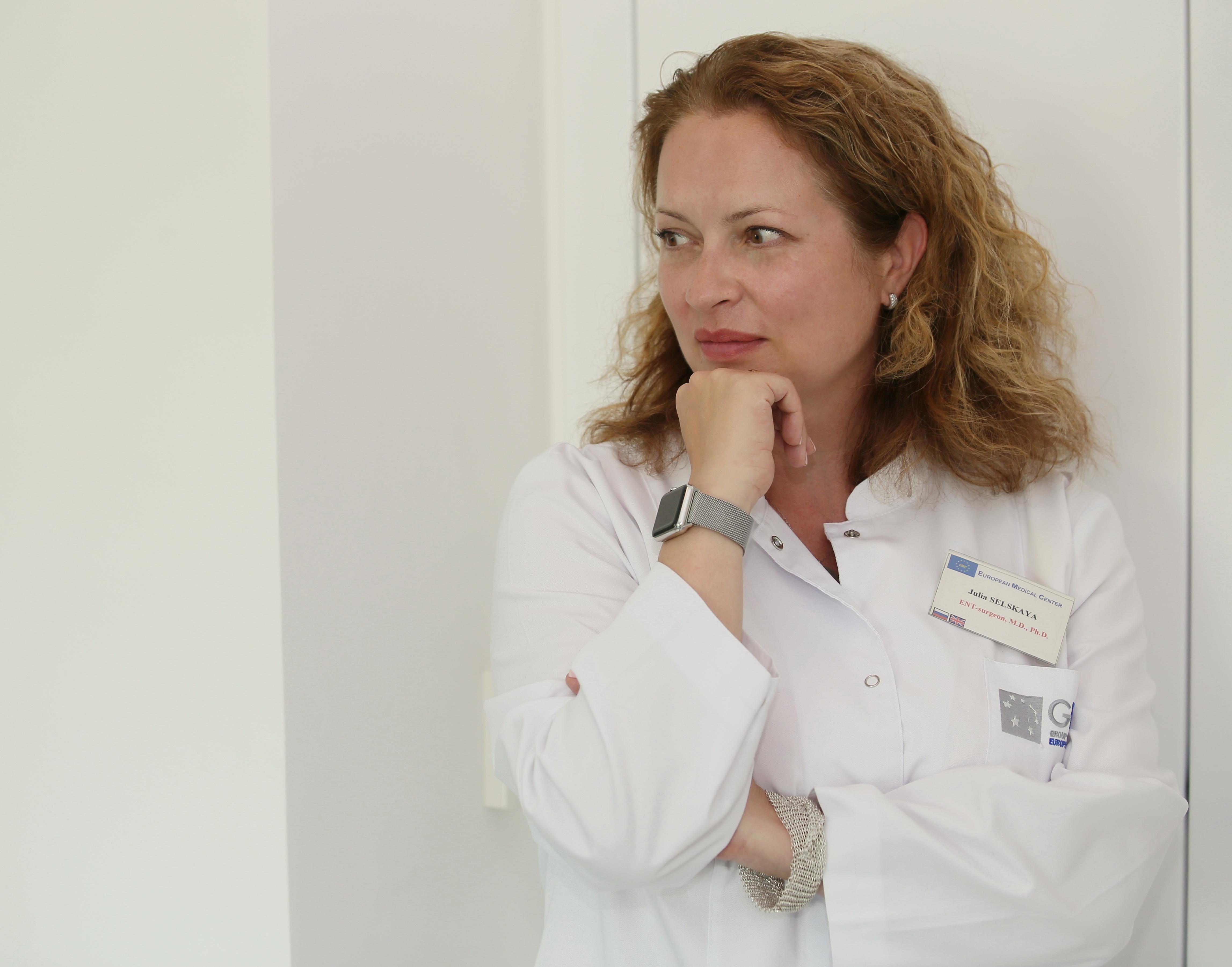 Юлия Сельская, руководительКлиники оториноларингологии, хирургии головы и шеиЕвропейского медицинского центра (ЕМС)