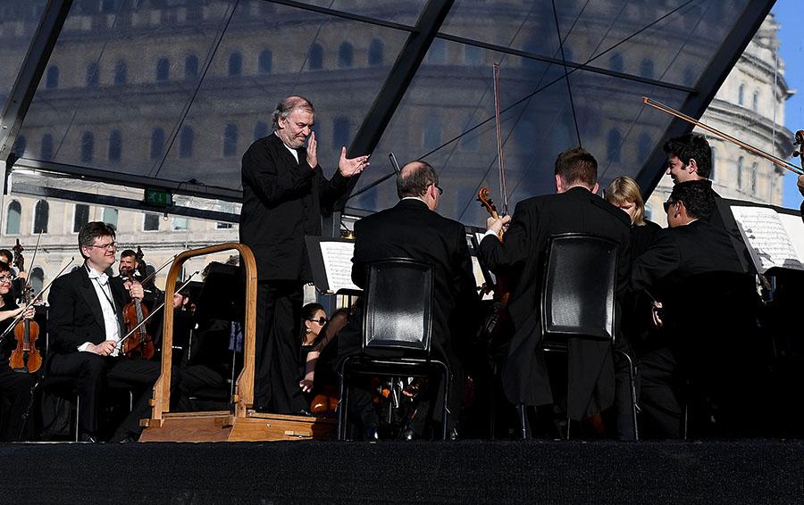 Во время концерта на Трафальгарской площади