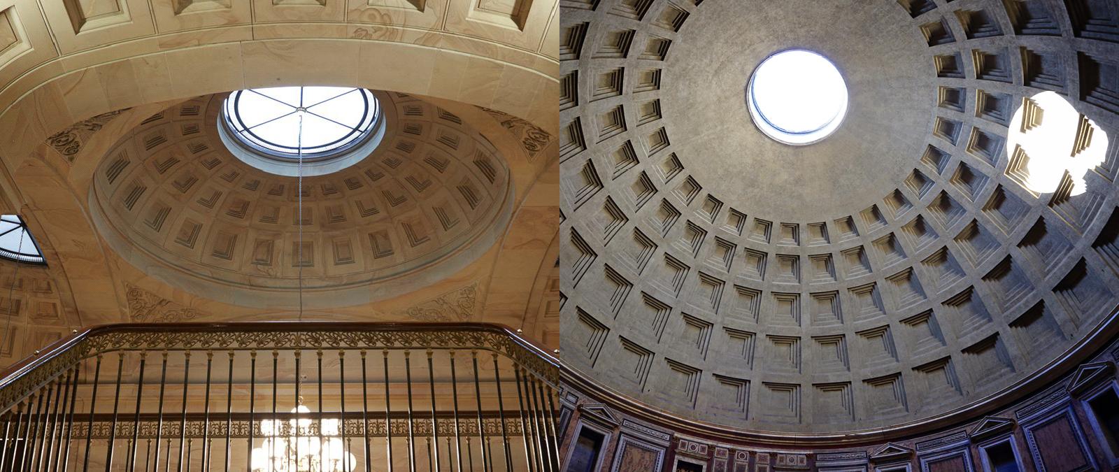 Центральное здание английского поместья напоминает Пантеон
