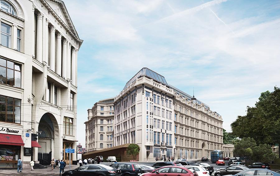 Исторические фасады гостиницы со стороны Варварки и Китайгородского проезда