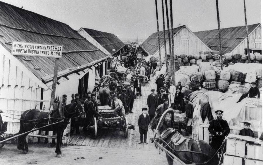 Склады пароходной компании «Надежда» на Сибирских приисках, 1900