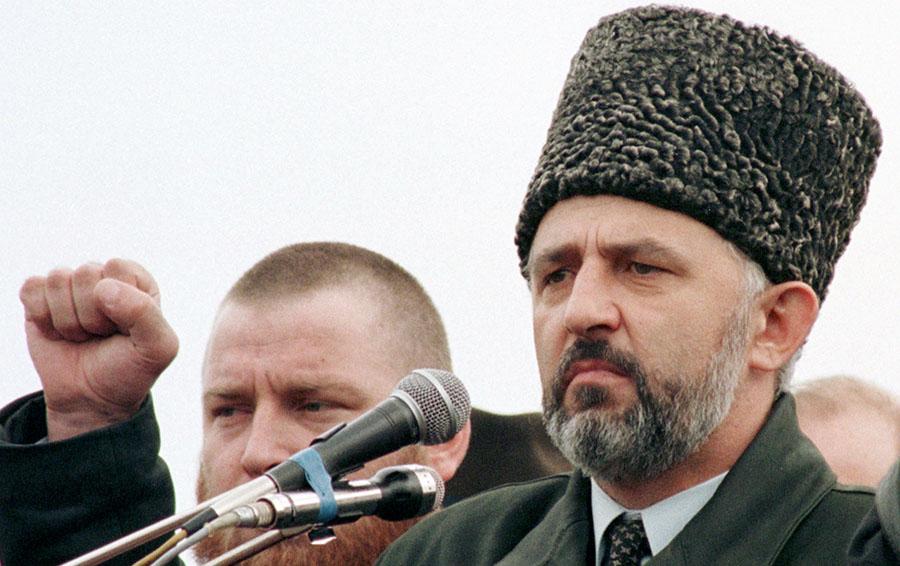 Президент Чечни Аслан Масхадов