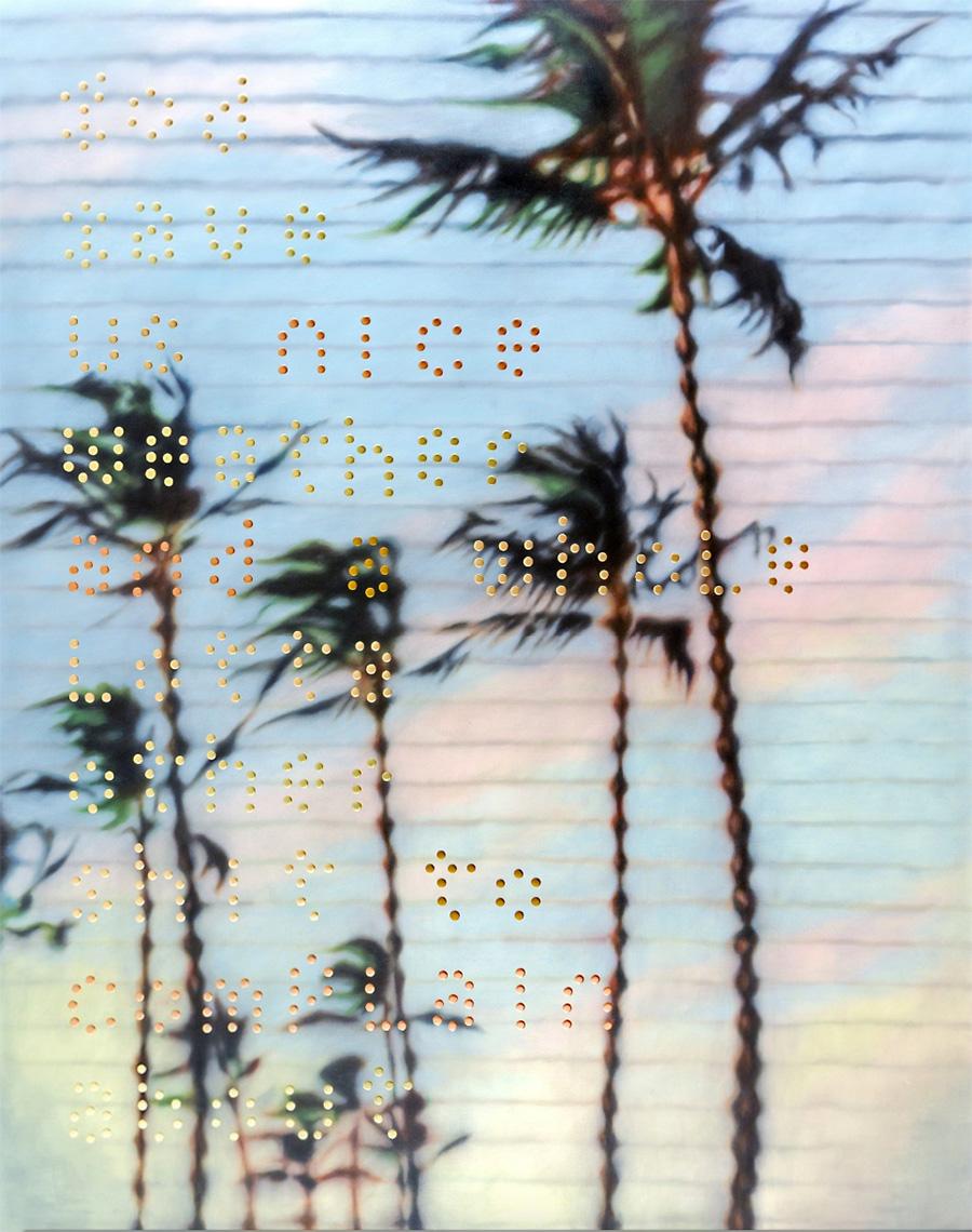 Raul Cordero Tropical Painting No.4 (We make art...), 2017 Mai 36 Galerie