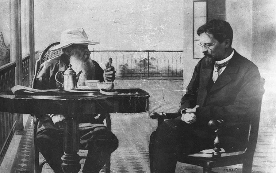 Антон Чехов и Лев Толстой: чаепитие в Крыму (1900 г)