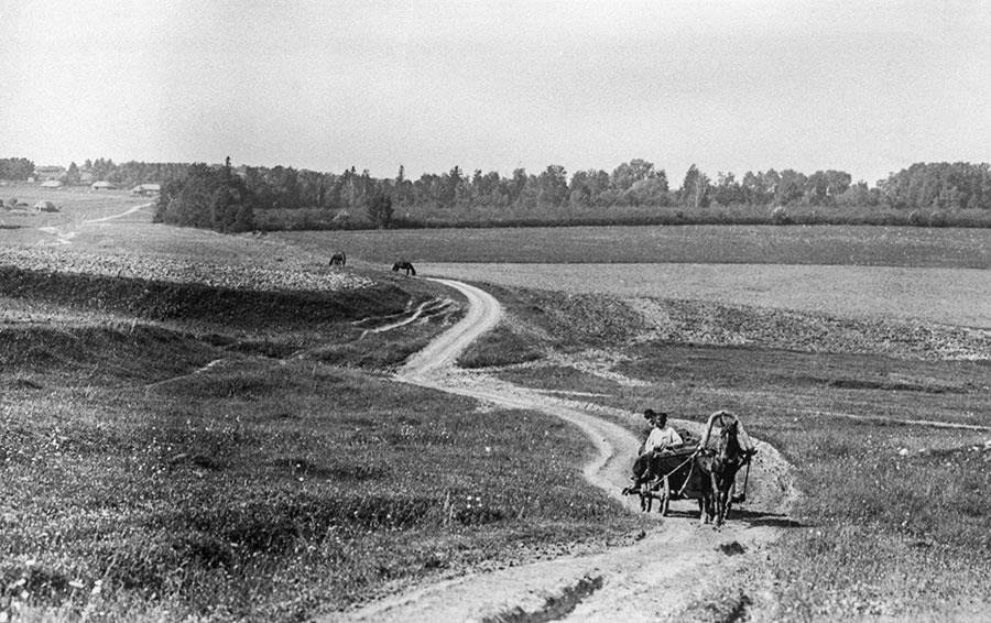 Тульская губерния, дорога в Ясную Поляну, 1908