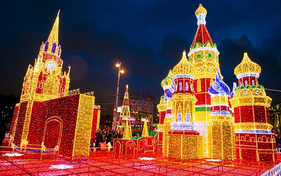 Макет светящегося Кремля
