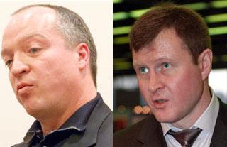 Андрей Скоч, №28 списка Forbes (слева), и Лев Кветной, №52