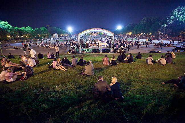 Ночью в парке