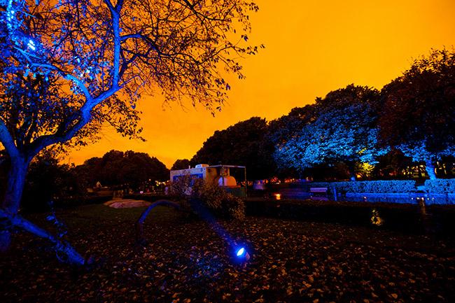 Освещение главной аллеи Парка Горького на оборудовании Philips Color Kinetics