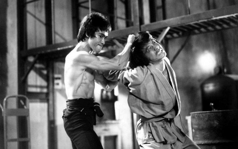 Брюс Ли и Джеки Чан в «Выходе дракона»