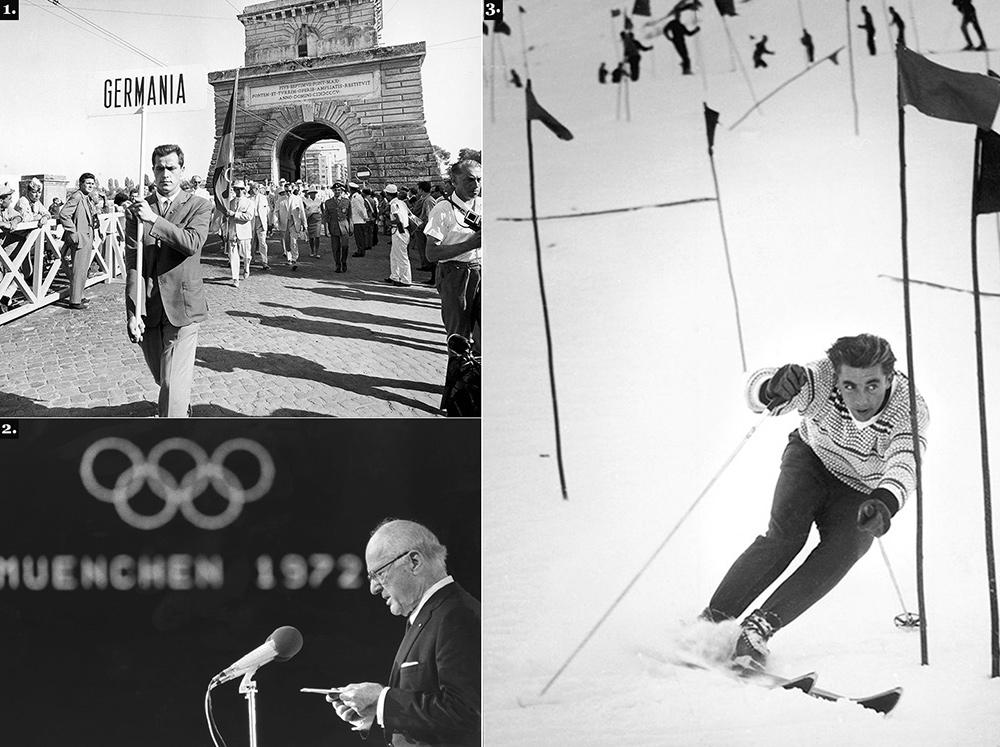 1. Одна из заслуг Брандиджа: ФРГ и ГДР выступали на Олимпиадах единой командой (на фото —  открытие Игр-1960). 2. В 1972 году Брандидж добился продолжения Игр в Мюнхене после того, как палестинские террористы убили нескольких членов делегации Израиля. 3. Легенда горнолыжного спорта австриец Карл Шранц —  его Брандидж не пустил на Олимпиаду в Саппоро за спонсорские контракты