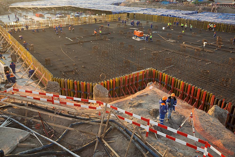 Стройка «Лахта-центра», будущего главного офиса «Газпрома»