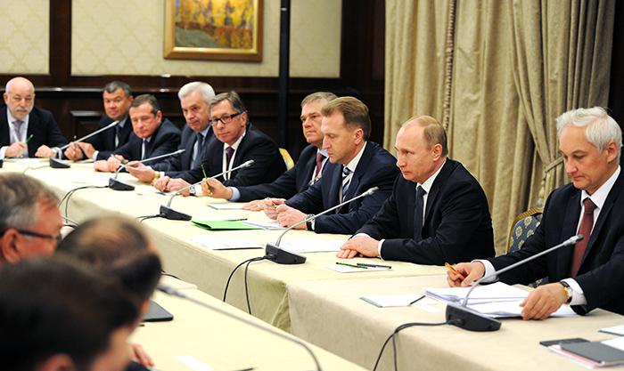 Путин на встрече с бюро правления РСПП