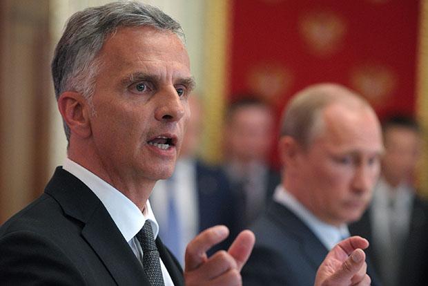Президент Швейцарии, действующий председатель ОБСЕ Дидье Буркхальтер
