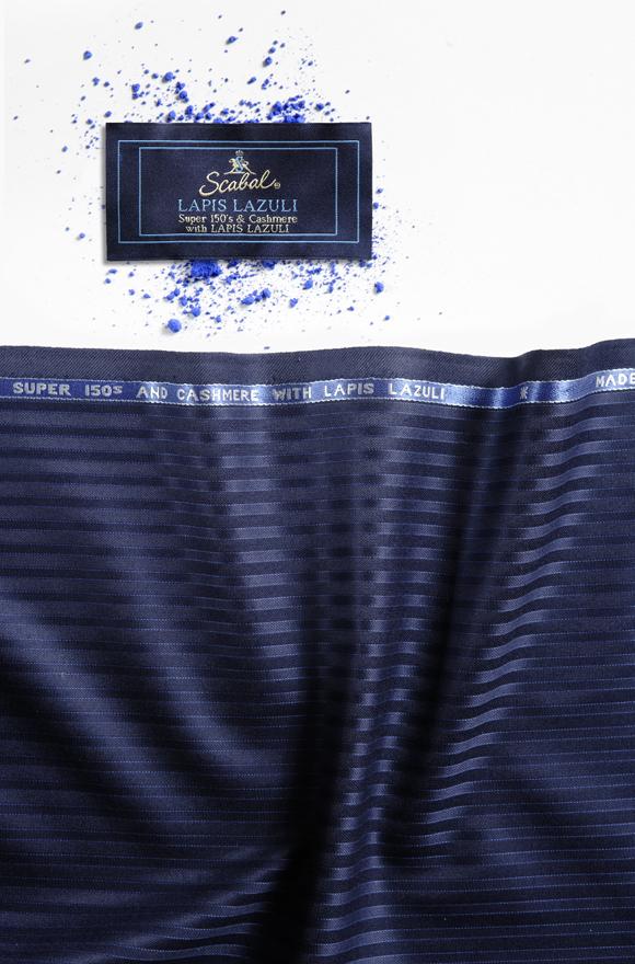 Ткань с лазуритом от Scabal в салонах «ТИССУРА»