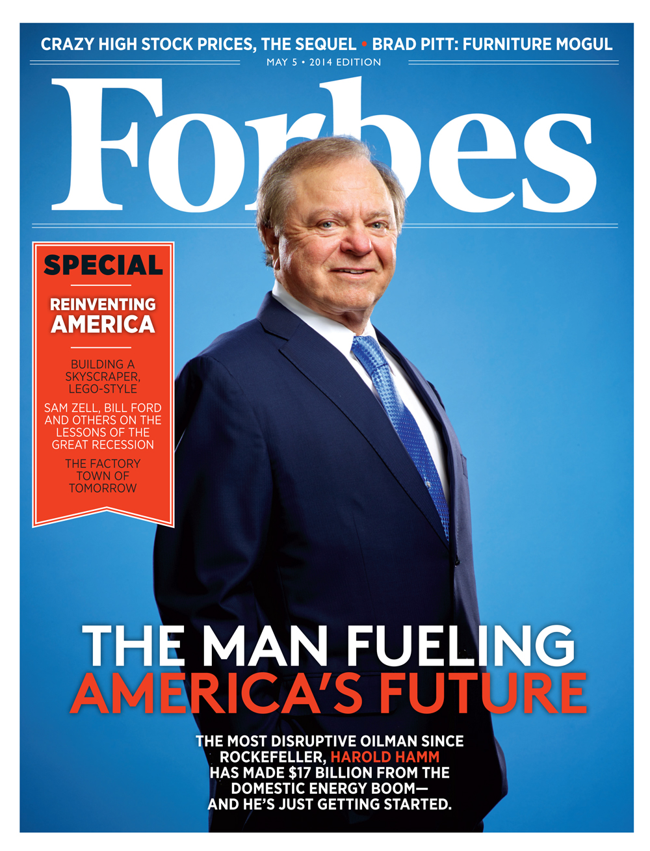 Обложка апрельского номера Forbes USA