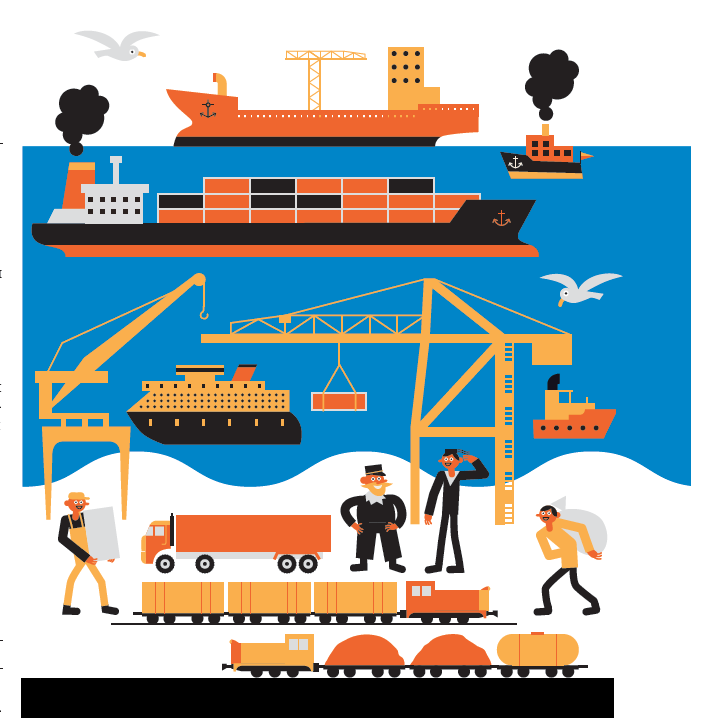 Россия имеет выход к 12 морям и трем океанам. Рыбная ловля и перевалка грузов- большой бизнес в Мурманске (№12), Санкт- Петербурге (№21) и Владивостоке (№30).