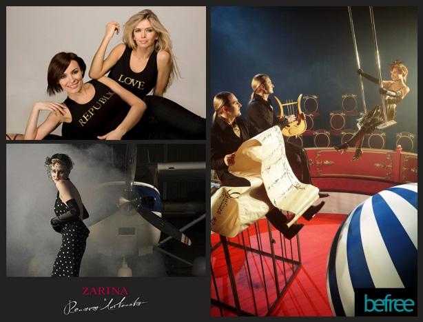 Звезды помогают в продвижении брендов «Мэлон Фэшн Груп»: участницы ВИА ГРА — в рекламе Love Republic, братья Запашные — befree, Рена Литвинова — Zarina