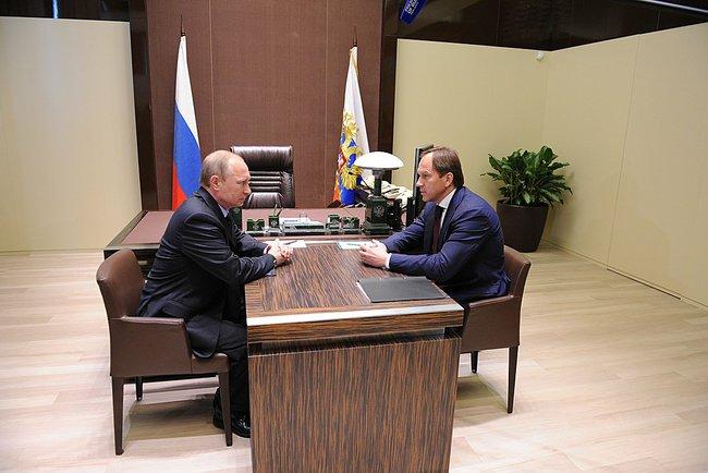 Владимир Путин и Лев Кузнецов, 12 мая 2014 года