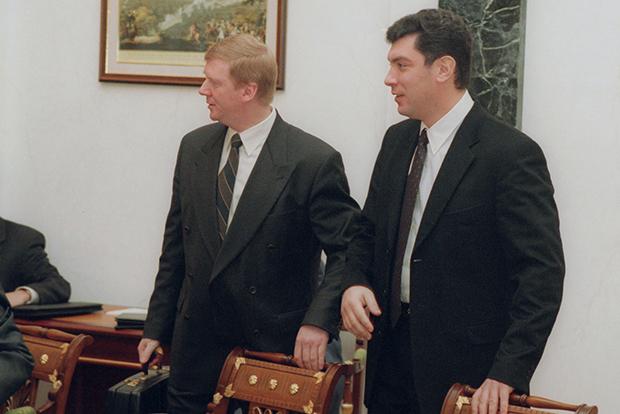 Анатолий Чубайс и Борис Немцов, вице-премьеры РФ, 1998 год