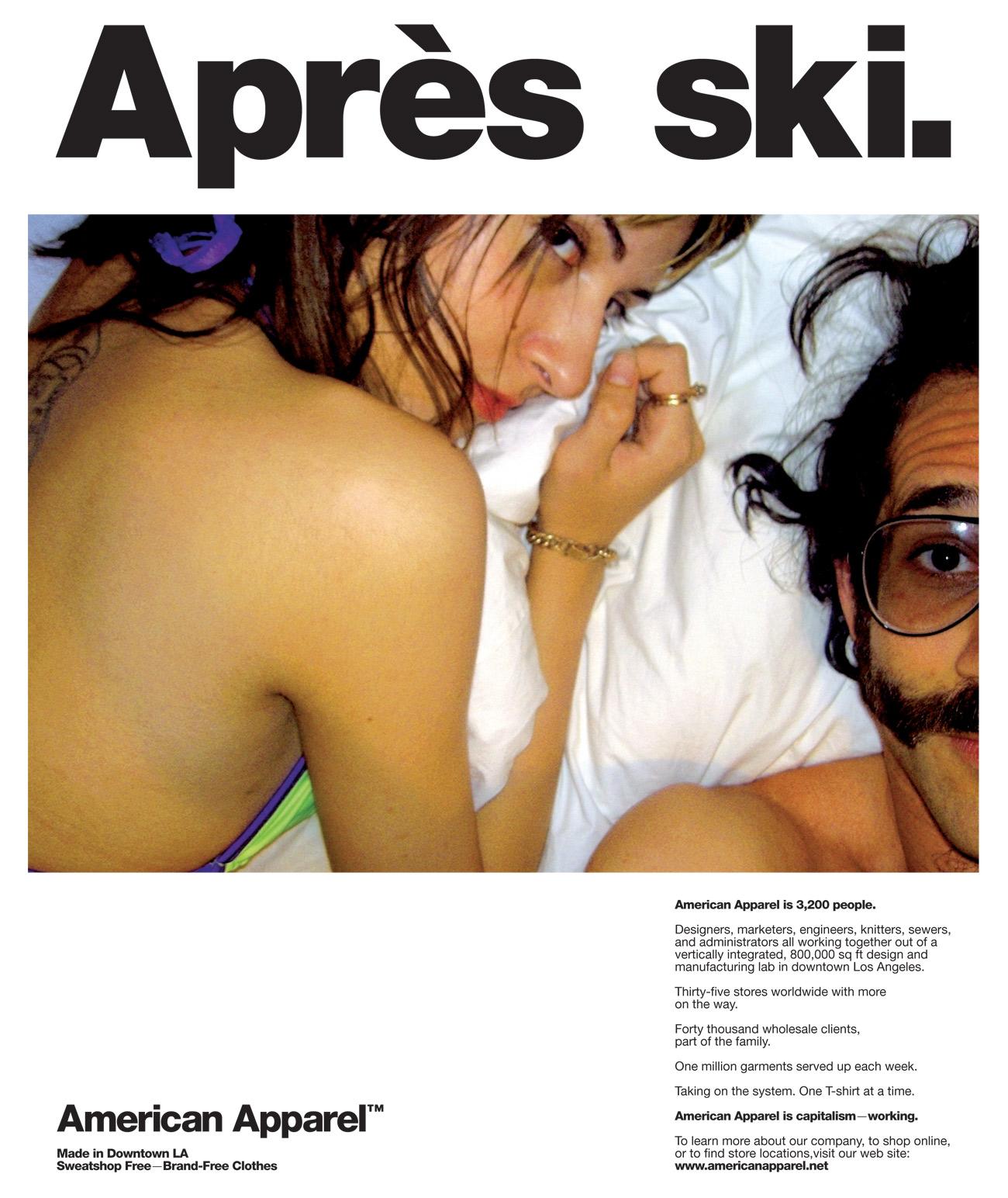 Дов Чарни иногда и сам участвовал в провокационной рекламе American Apparel
