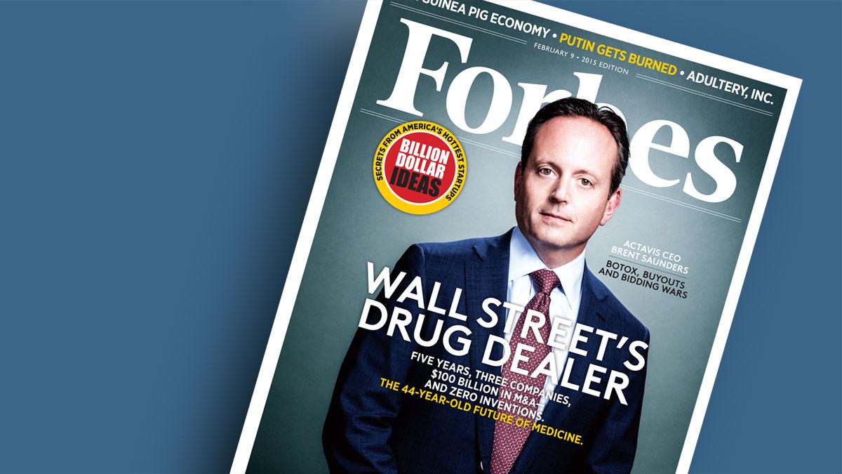Брент Сондерс на обложке февральского номера американского Forbes