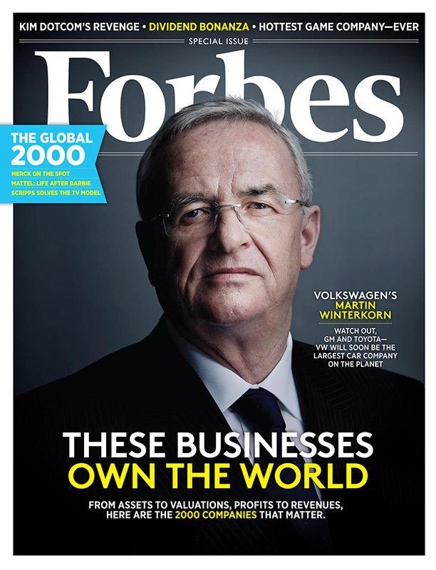 Мартин Винтеркорн на обложке американского Forbes, 2013 год