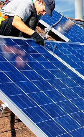 Процесс установки солнечной батареи NRG