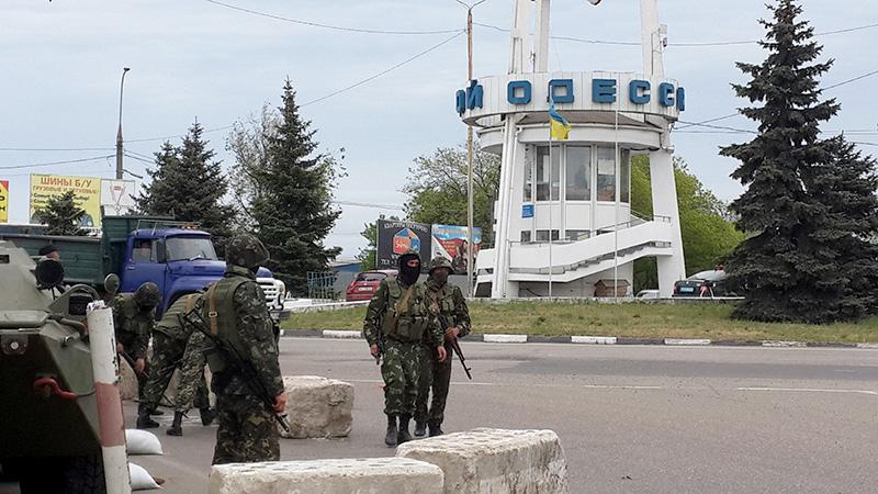 Блокпост на въезде в Одессу, 9 мая