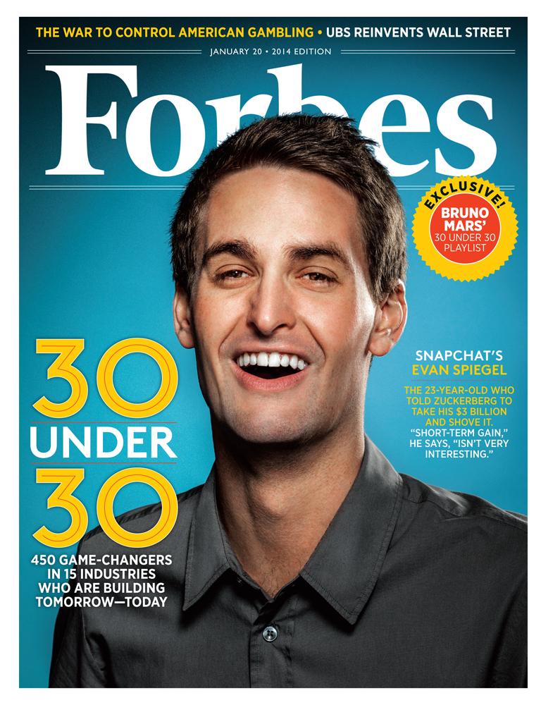 Эван Шпигель на обложке американского Forbes