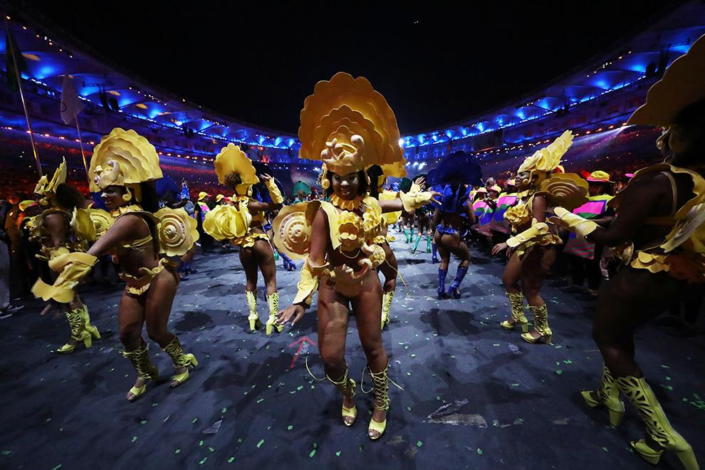 Церемонии открытия Олимпийских игр на стадионе «Маракана» в Рио‑де‑Жанейро