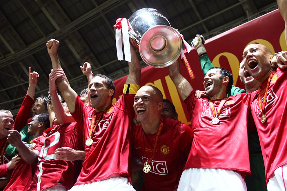 В 2008-м «Юнайтед» выиграл Лигу чемпионов (на фото), в текущем розыгрыше команда не участвует, но бизнесу клуба это не вредит