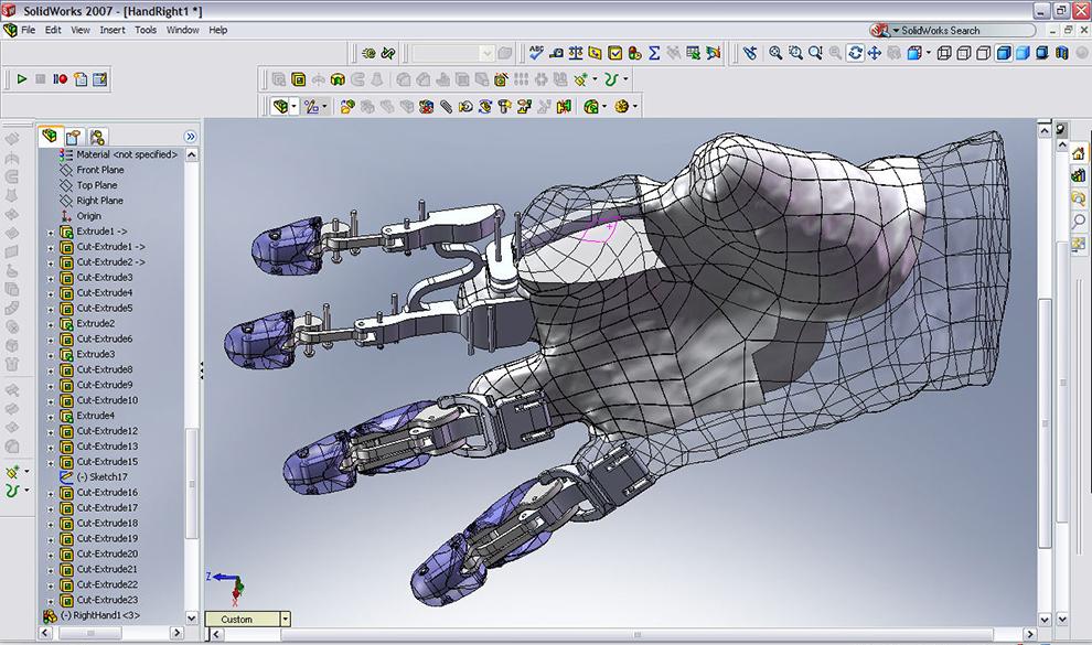 Скриншот SolidWorks