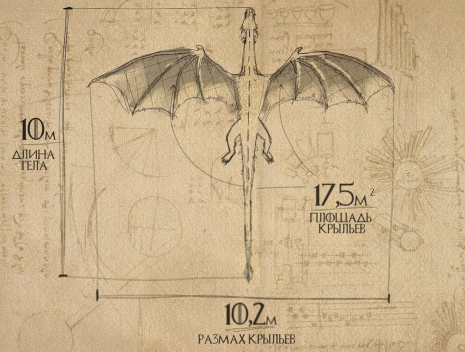 Геометрия модельного дракона