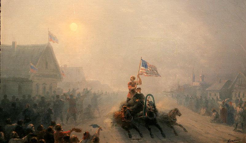 И.К. Айвазовский. Раздача продовольствия (1892). Коллекция Леонарда Блаватника, Нью-Йорк