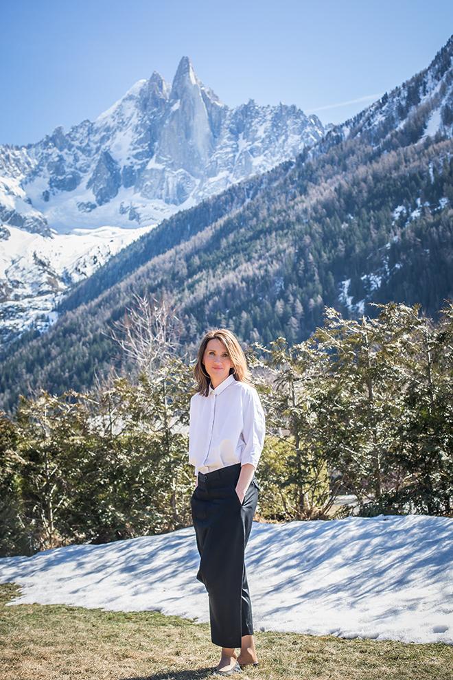 Ходить в горы Мария начала, когда семья сняла шале в Шамони.