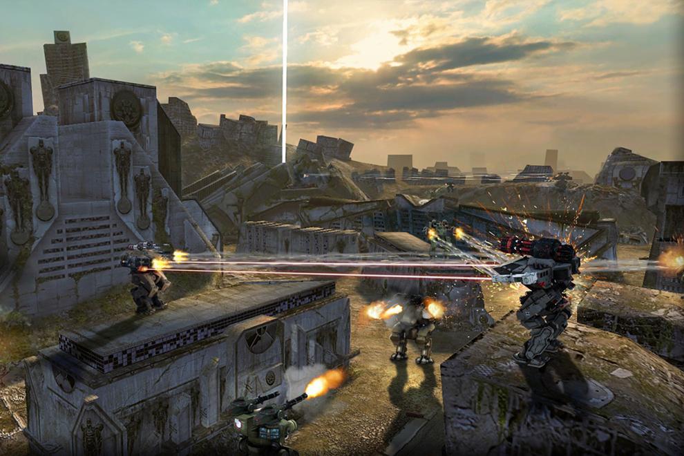 Скриншот из игры Walking War Robots