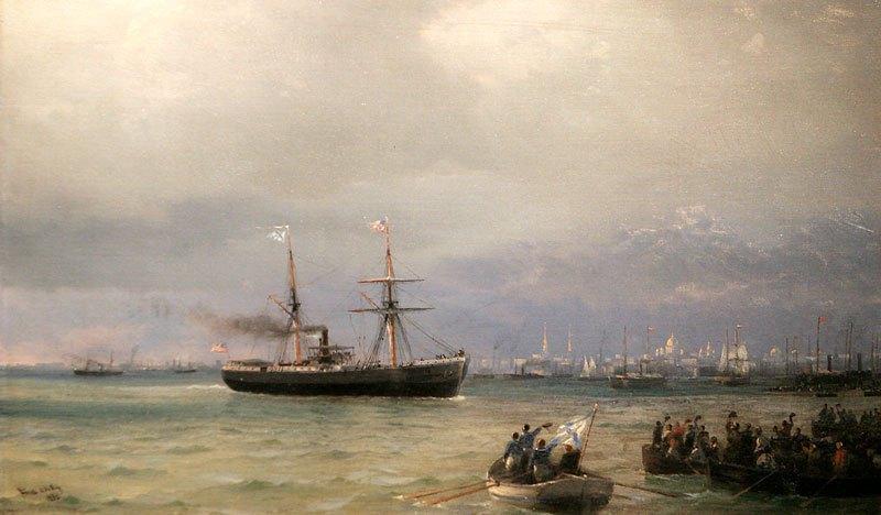 И.К. Айвазовский. Корабль помощи (1892). Коллекция Леонарда Блаватника, Нью-Йорк