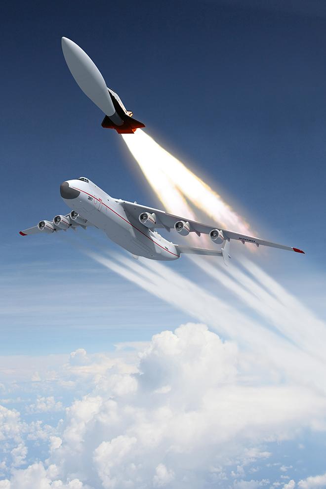 Воздушный старт авиационно-космической системы 9а-10485/МАКС.