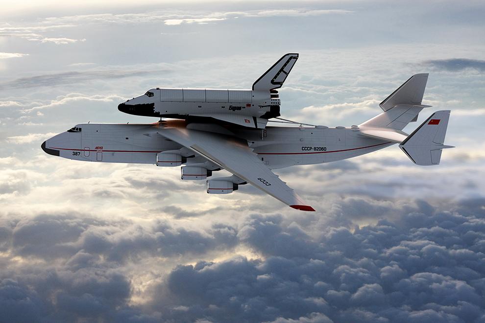 Ан-225 «Мрия» известен всему миру в первую очередь как воздушный транспортировщик орбитального корабля «Буран».